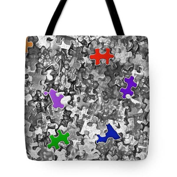 Puzzle Pieces - Jigsaw Abstract 2 Tote Bag
