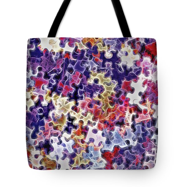 Puzzle Pieces - Jigsaw Abstract Tote Bag