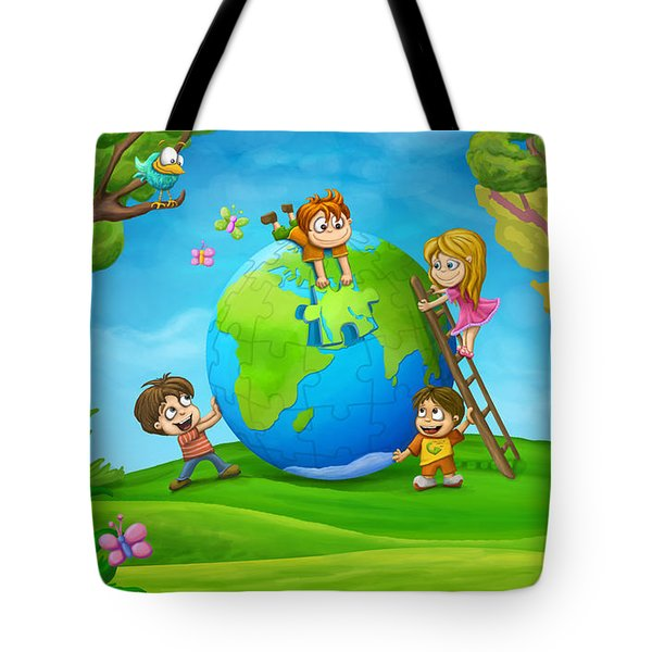 Puzzle World Tote Bag