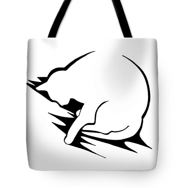 Tote Bag featuring the drawing Py by Keith A Link