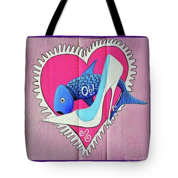 Devoted Fish Tote Bag by Don Pedro De Gracia
