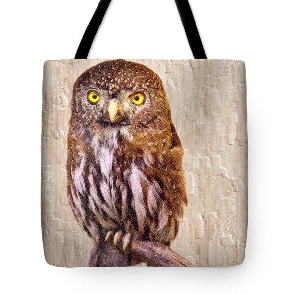 Pygmy Owl Tote Bag by David Millenheft
