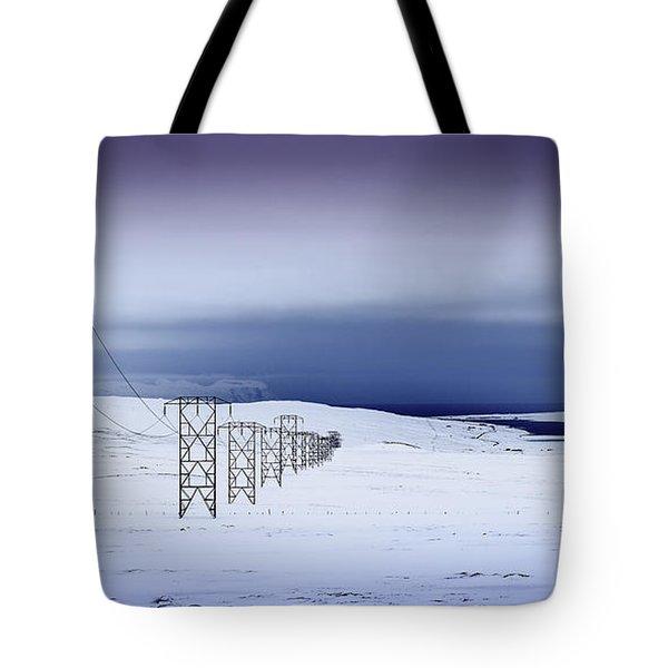 Pylons, Iceland Tote Bag