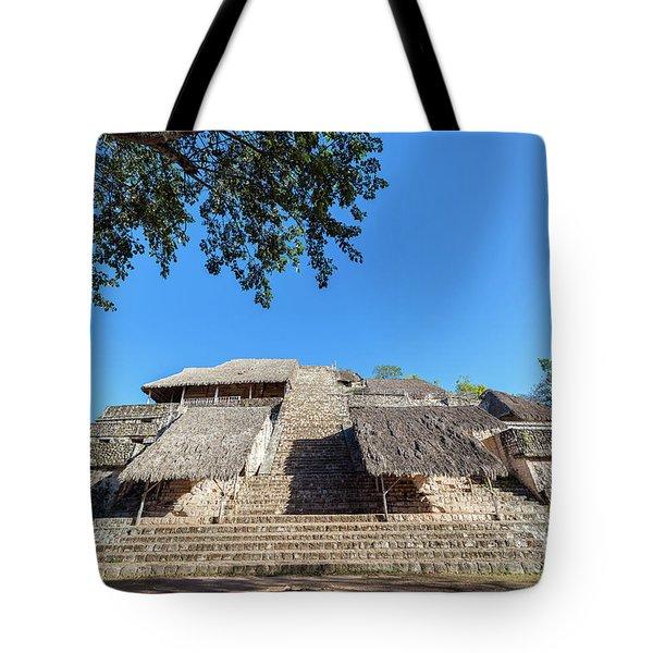 Pyramid In Ek Balam Tote Bag