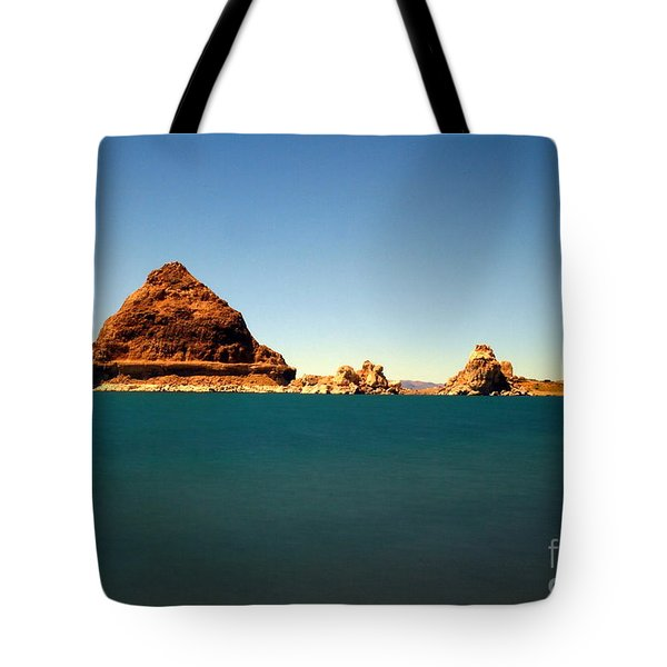 Pyramid Lake  Tote Bag by Catherine Lau