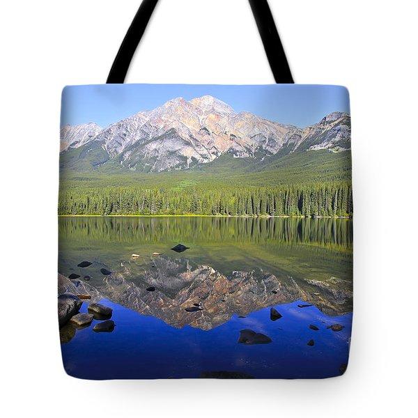 Pyramid Lake Reflection Tote Bag