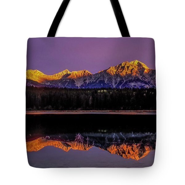 Tote Bag featuring the photograph Pyramid Mountain 2006 01 by Jim Dollar