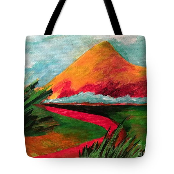 Pyramid Mountain Tote Bag by Elizabeth Fontaine-Barr