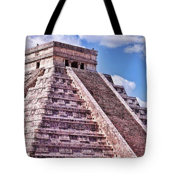 Pyramid Of Kukulcan At Chichen Itza Tote Bag