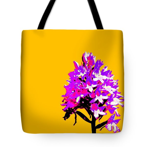Orange Pyramid Orchid  Tote Bag