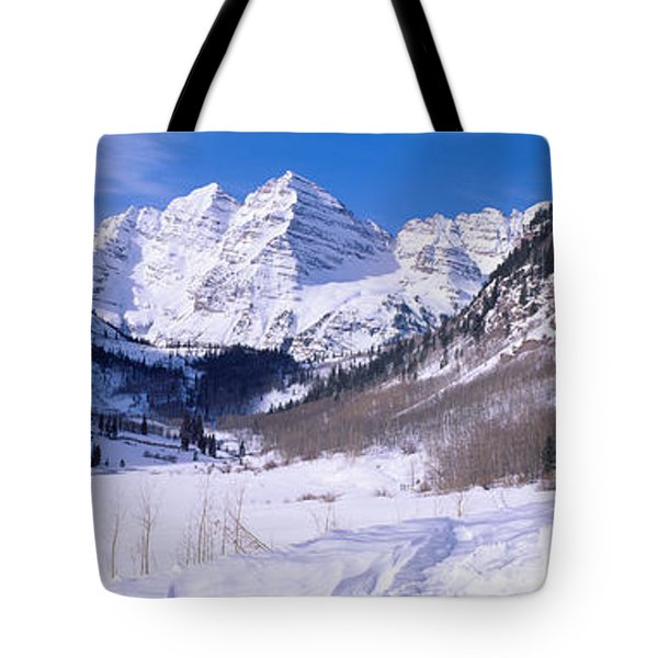 Pyramid Peak And Maroon Bells Tote Bag