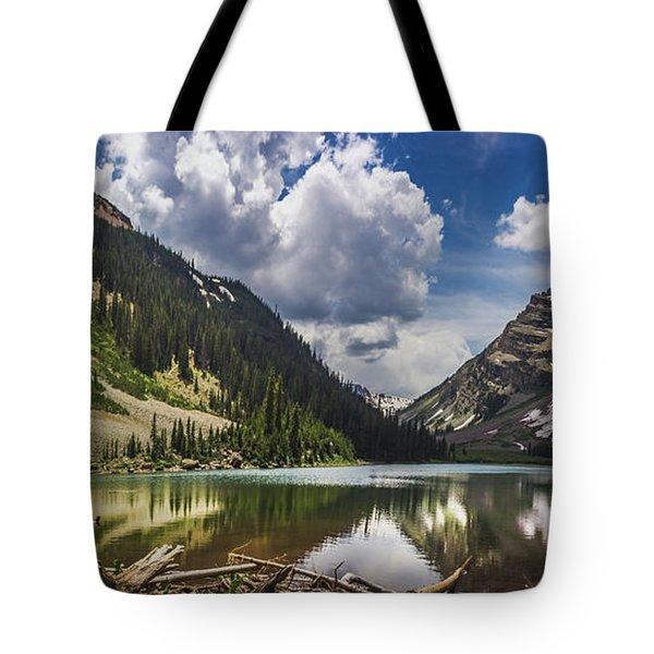 Pyramid Peak, Maroon Bells, And Crater Lake Panorama Tote Bag