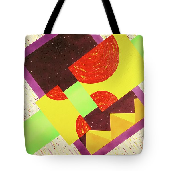 Tote Bag featuring the painting Pyramids And Pepperoni by Thomas Blood
