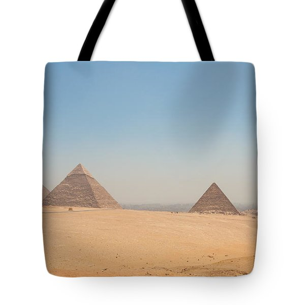 Pyramids Of Giza And The Desert Tote Bag