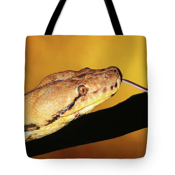 Python Tote Bag by Donna Kennedy