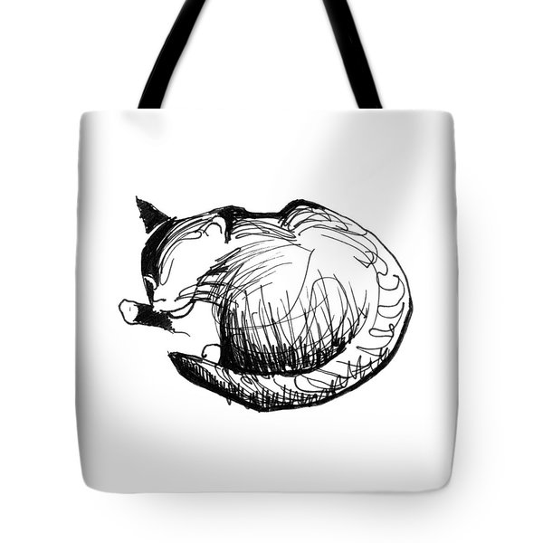 Tote Bag featuring the drawing Pywackit by Keith A Link