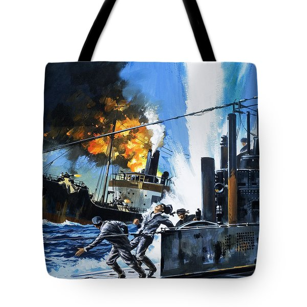Q Ships During World War One Tote Bag