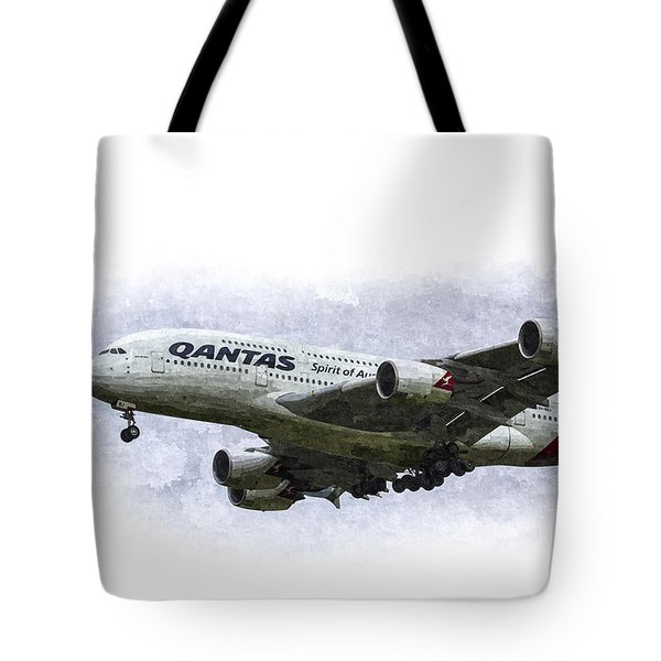 Qantas Airbus A380 Art Tote Bag
