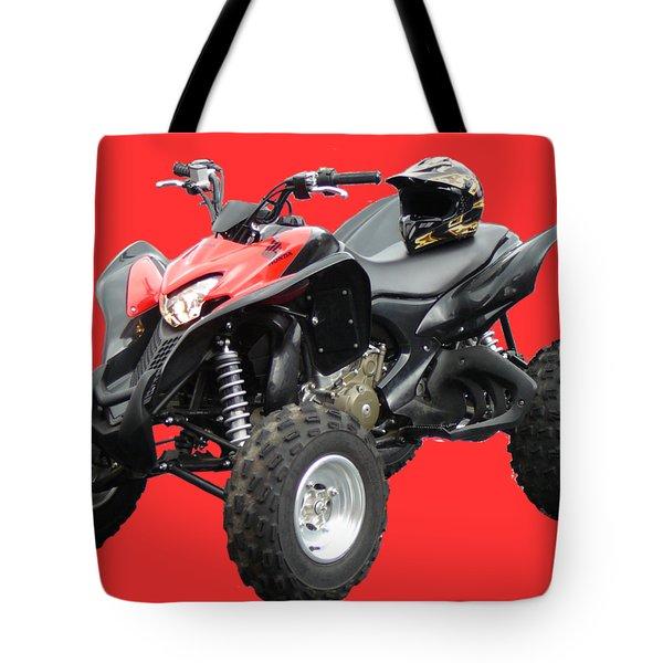 Quad Bike And Helmet Tote Bag