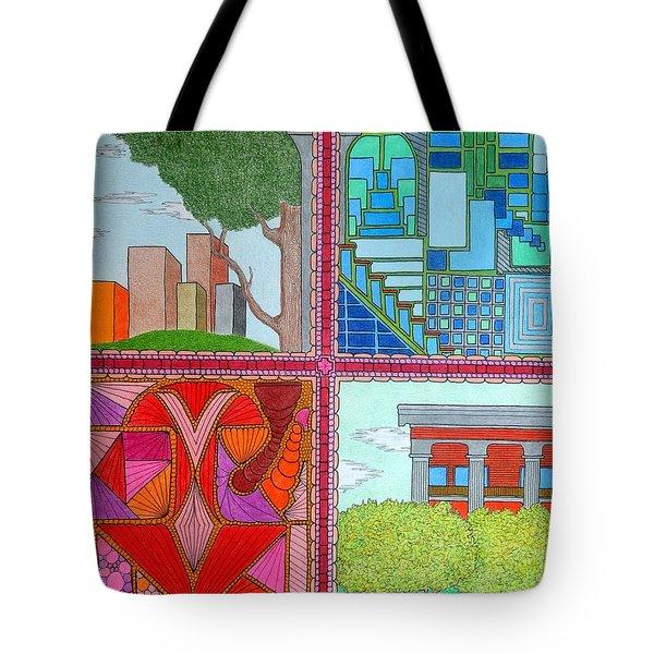 Quadrants Tote Bag