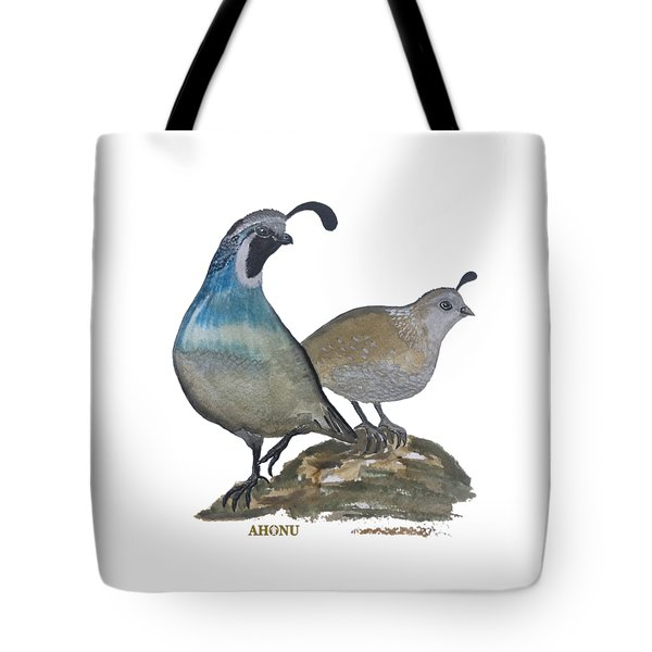 Quail Parents Wondering Tote Bag