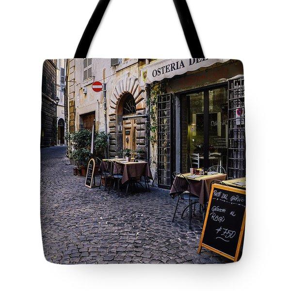 Quaint Cobblestones Streets In Rome, Italy Tote Bag