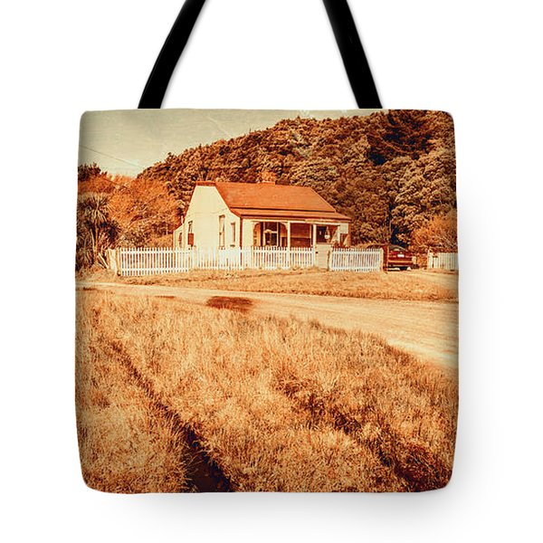 Quaint Country Cottage Tote Bag