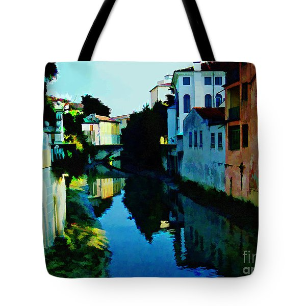 Tote Bag featuring the photograph Quaint On The Canal by Roberta Byram