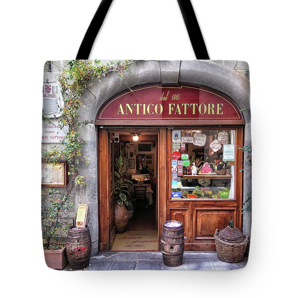 Quaint Restaurant In Florence Tote Bag