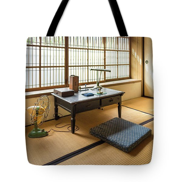 Tote Bag featuring the photograph Quaint Tatami Office by Geoffrey C Lewis