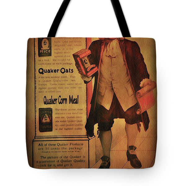 Quaker Quality Tote Bag by Bill Cannon