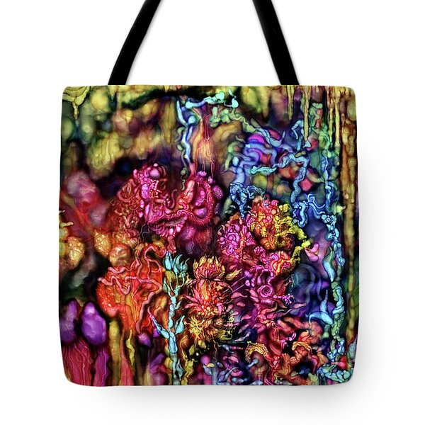 Tote Bag featuring the digital art Qualia's Cave by Russell Kightley