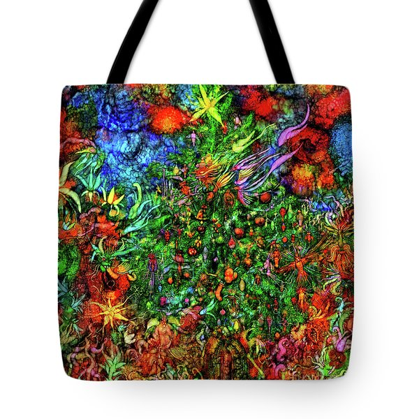 Tote Bag featuring the digital art Qualia's Christmas by Russell Kightley