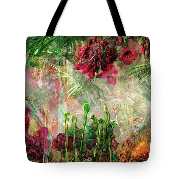 Tote Bag featuring the digital art Qualia's Jungle by Russell Kightley