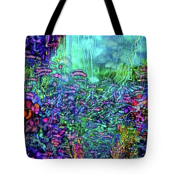 Tote Bag featuring the digital art Qualia's Reef by Russell Kightley