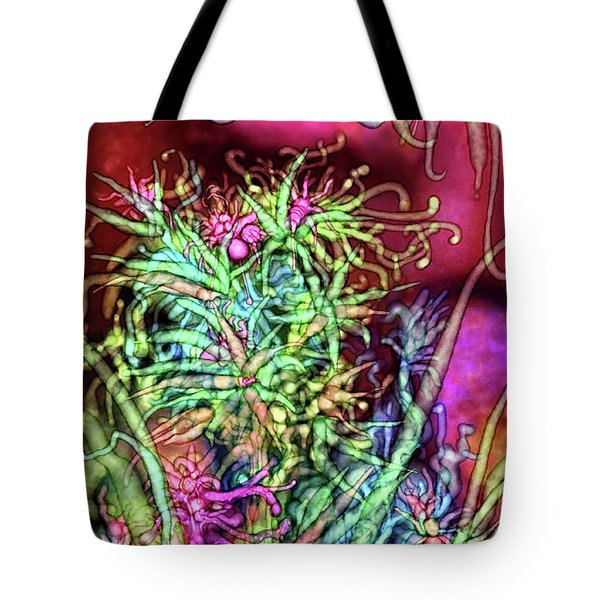 Tote Bag featuring the digital art Qualia's Tree by Russell Kightley