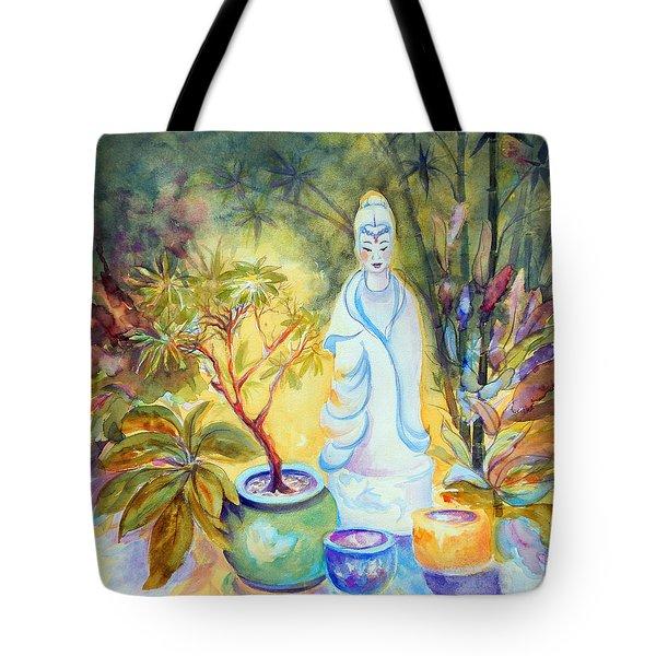 Quan Yin Garden Tote Bag