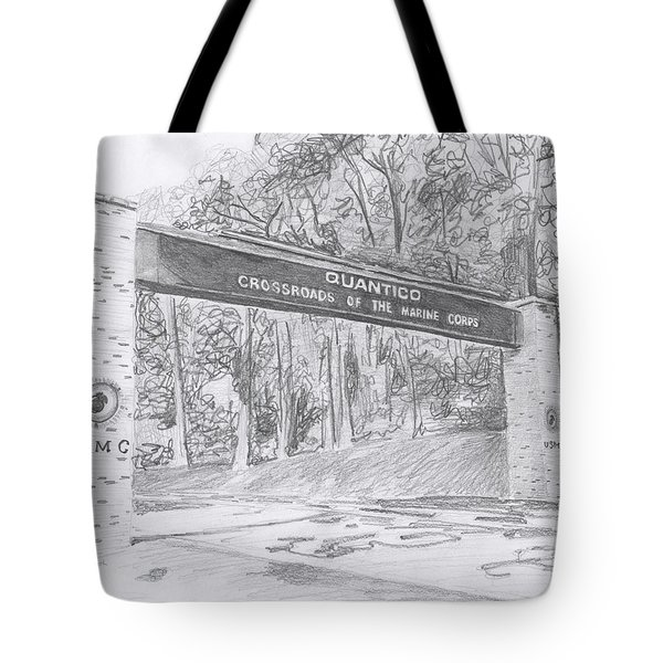 Quantico Welcome Graphite Tote Bag