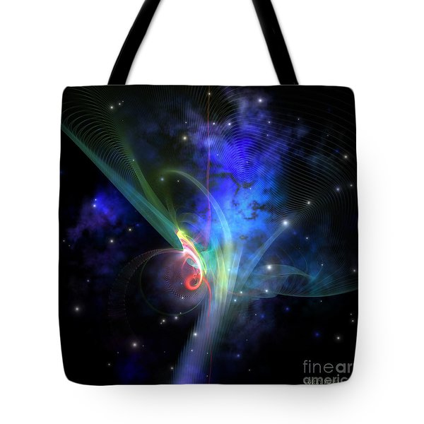 Quantum Filament Tote Bag by Corey Ford