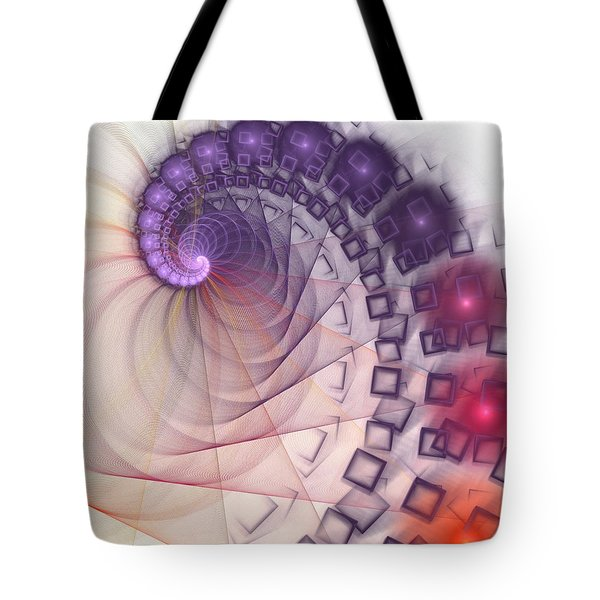 Tote Bag featuring the digital art Quantum Gravity by Anastasiya Malakhova
