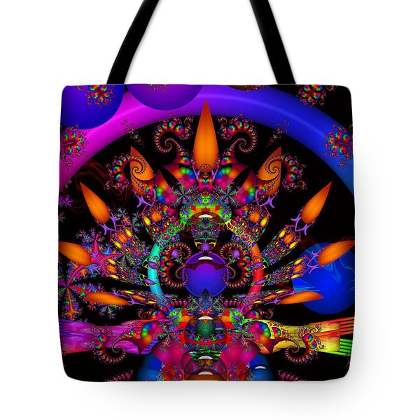 Tote Bag featuring the digital art Quantum Physics by Robert Orinski