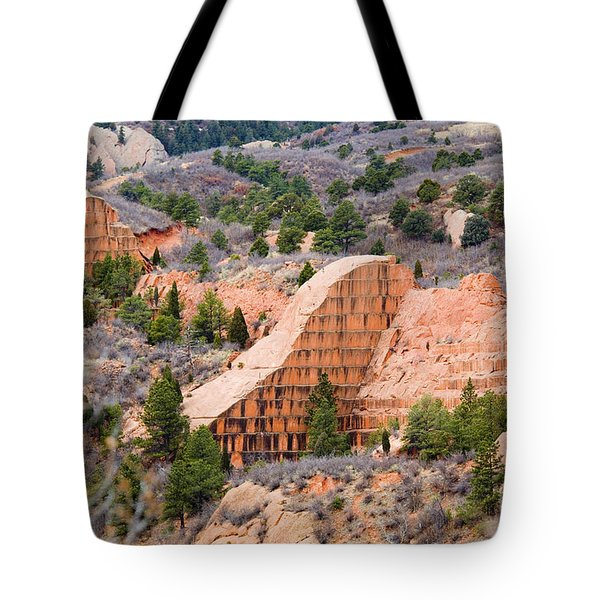 Quarry At Red Rock Canyon Colorado Springs Tote Bag