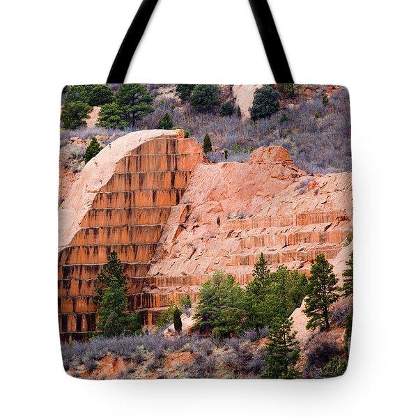 Quarry Closup At Red Rock Canyon Colorado Springs Tote Bag