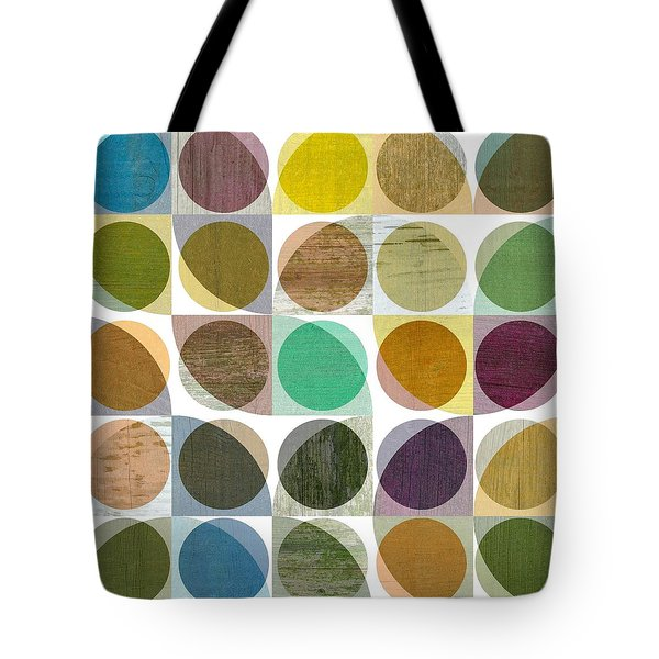 Tote Bag featuring the digital art Quarter Circles Layer Project One by Michelle Calkins