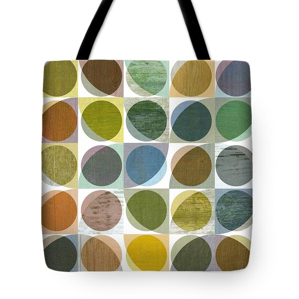 Tote Bag featuring the digital art Quarter Circles Layer Project Three by Michelle Calkins