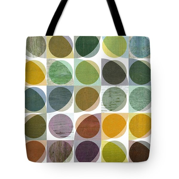 Tote Bag featuring the digital art Quarter Circles Layer Project Two by Michelle Calkins