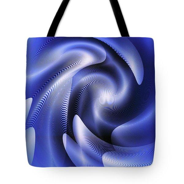 Tote Bag featuring the digital art Quarter Moon by Visual Artist Frank Bonilla