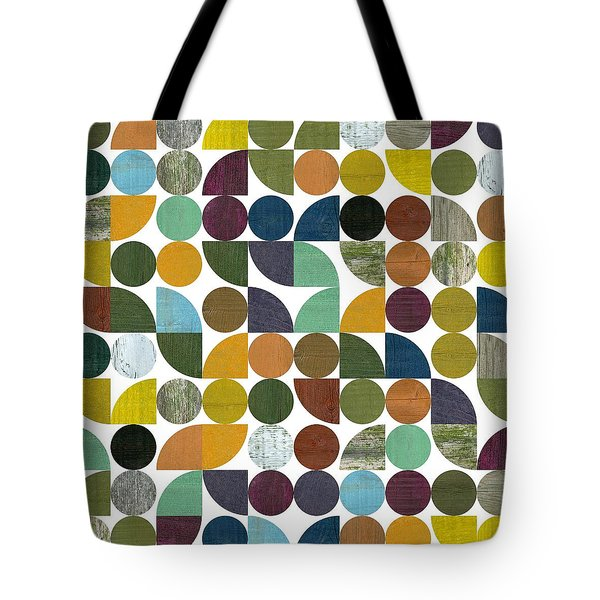 Tote Bag featuring the digital art Quarter Rounds And Rounds 100 by Michelle Calkins