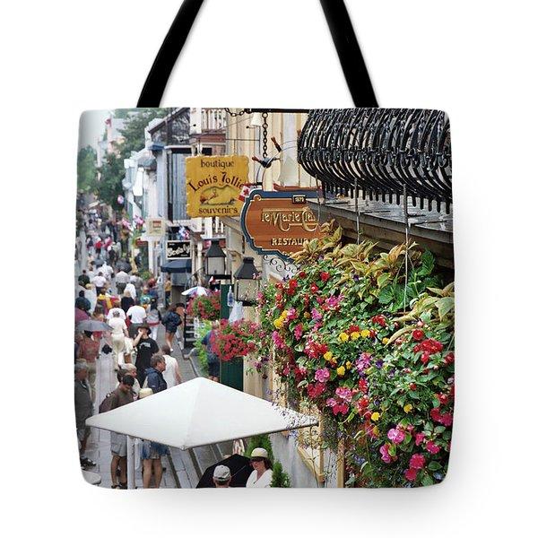 Tote Bag featuring the photograph Quartier Petit Champlain by John Schneider
