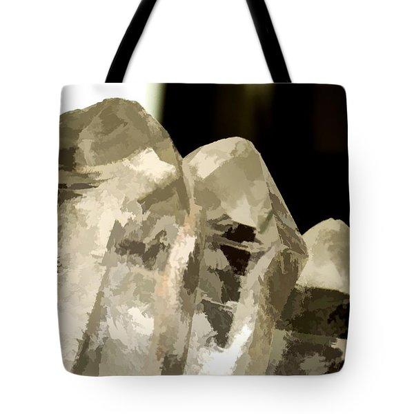Quartz Crystal Cluster Tote Bag